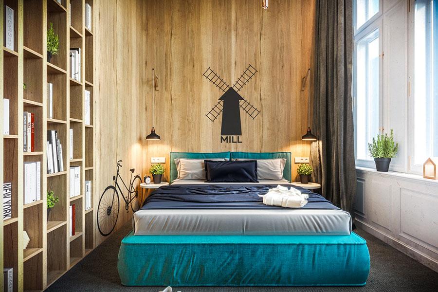 Idee per arredare una camera da letto marrone n.13