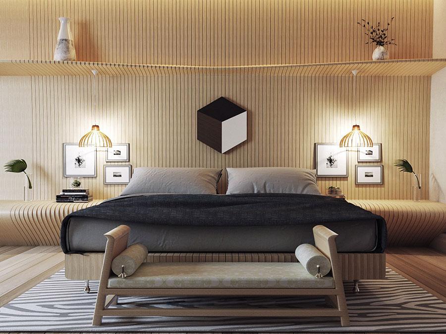 Idee per arredare una camera da letto marrone n.14