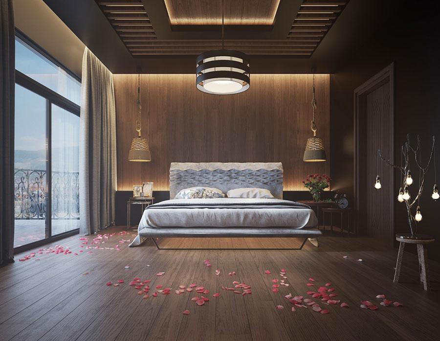 Idee per il lampadario in una camera da letto moderna n.19