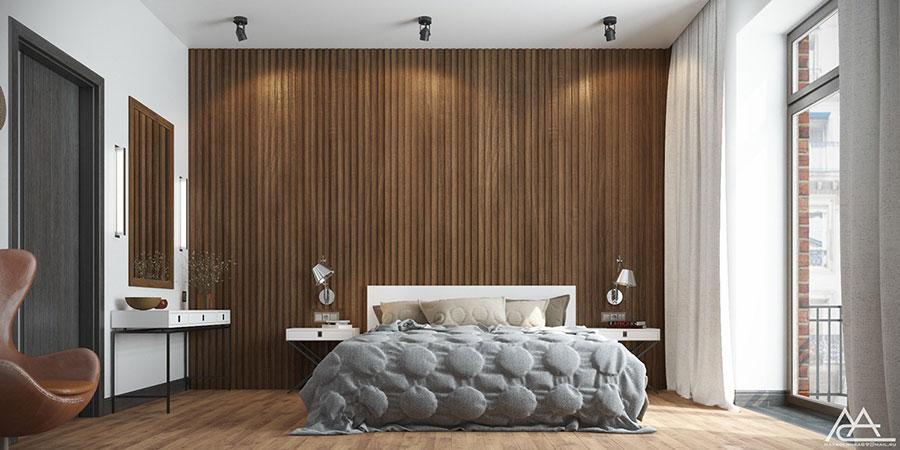 Idee per arredare una camera da letto marrone n.18