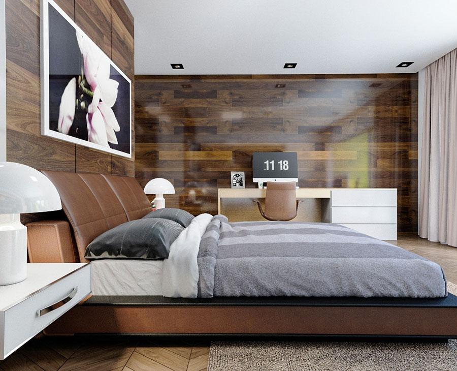 Idee per arredare una camera da letto marrone n.19