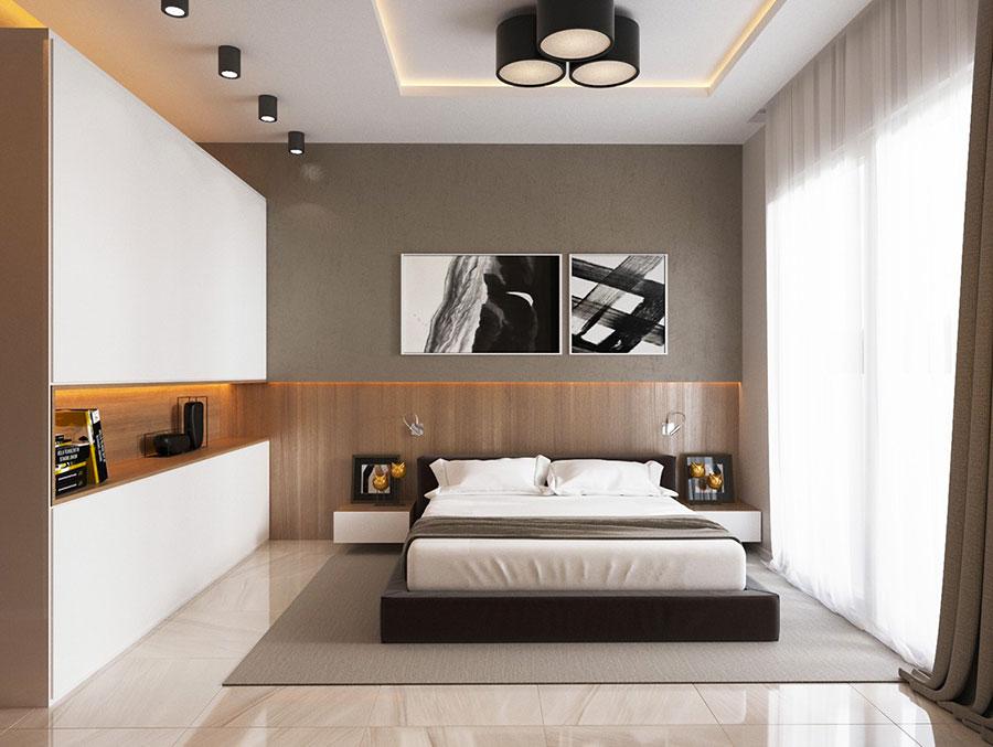 Idee per arredare una camera da letto marrone n.24