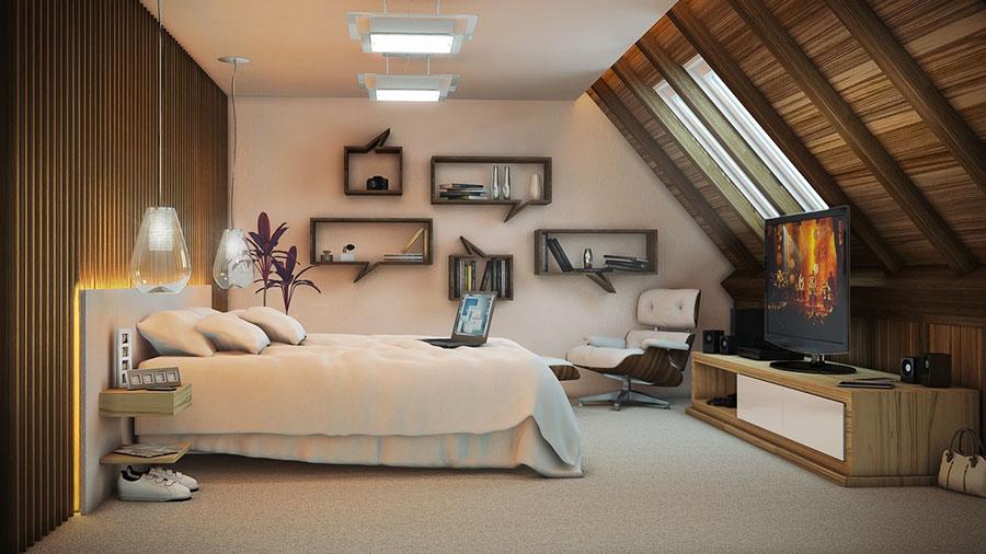 Idee per arredare una camera da letto marrone n.25
