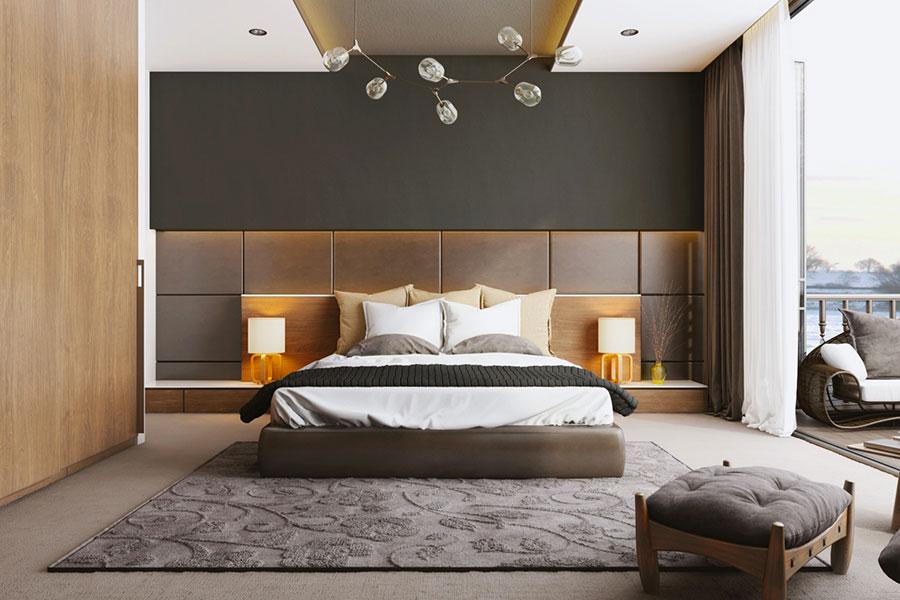 Idee per il lampadario in una camera da letto moderna n.20