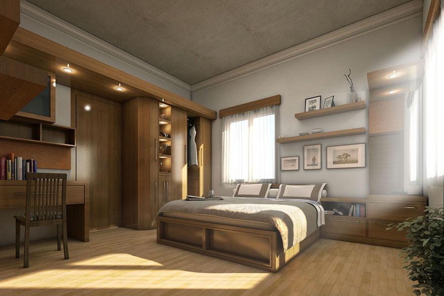 Idee per arredare una camera da letto marrone n.27