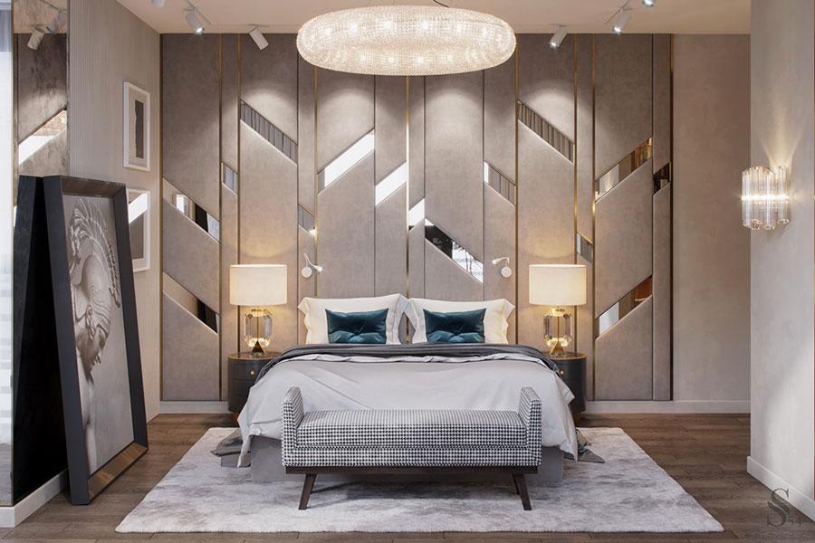 Idee per il lampadario in una camera da letto classica n.18
