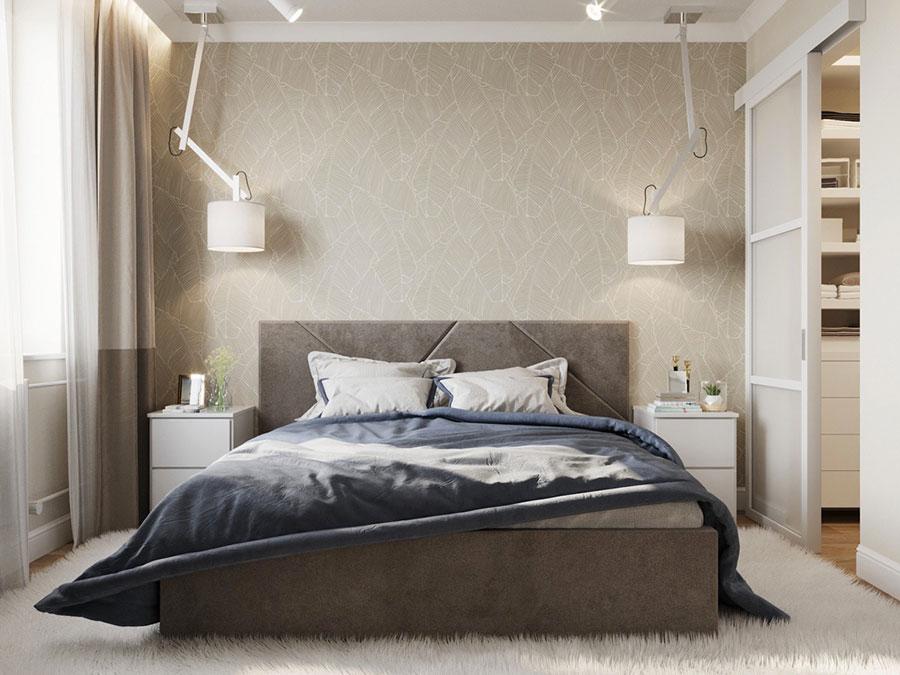 Idee per arredare una camera da letto beige e tortora n.03