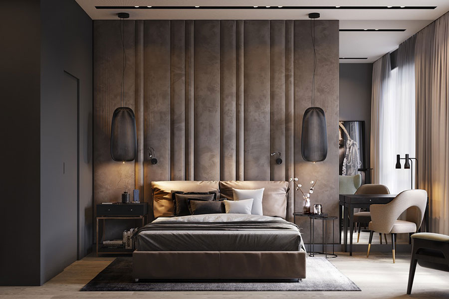 Idee per arredare una camera da letto marrone n.31