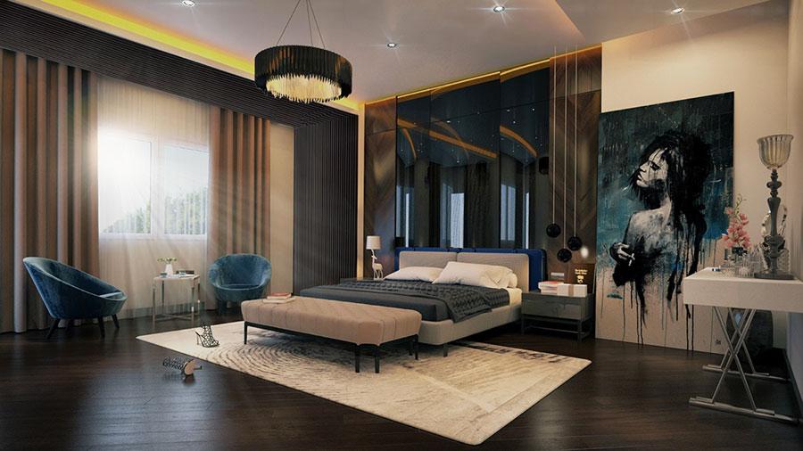 Idee per arredare una camera da letto marrone n.32