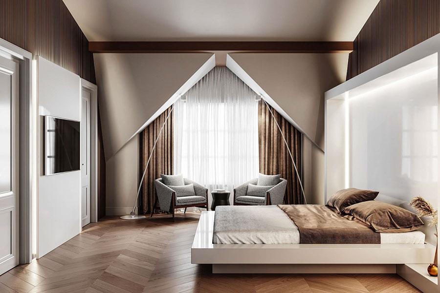 Idee per arredare una camera da letto marrone n.33