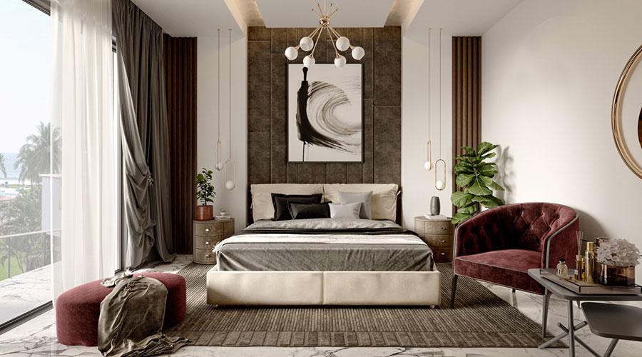 Idee per arredare una camera da letto marrone n.34