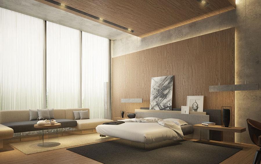 Idee per arredare una camera da letto marrone n.36