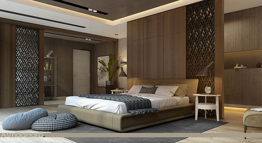 Idee per arredare una camera da letto marrone n.38