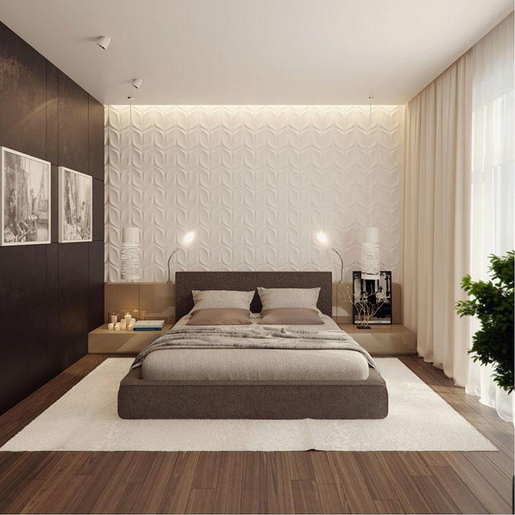 Idee per arredare una camera da letto marrone n.39