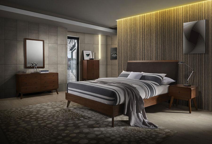 Idee per arredare una camera da letto marrone n.40