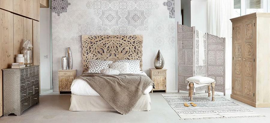 Idee per arredare una camera da letto etnica n.12