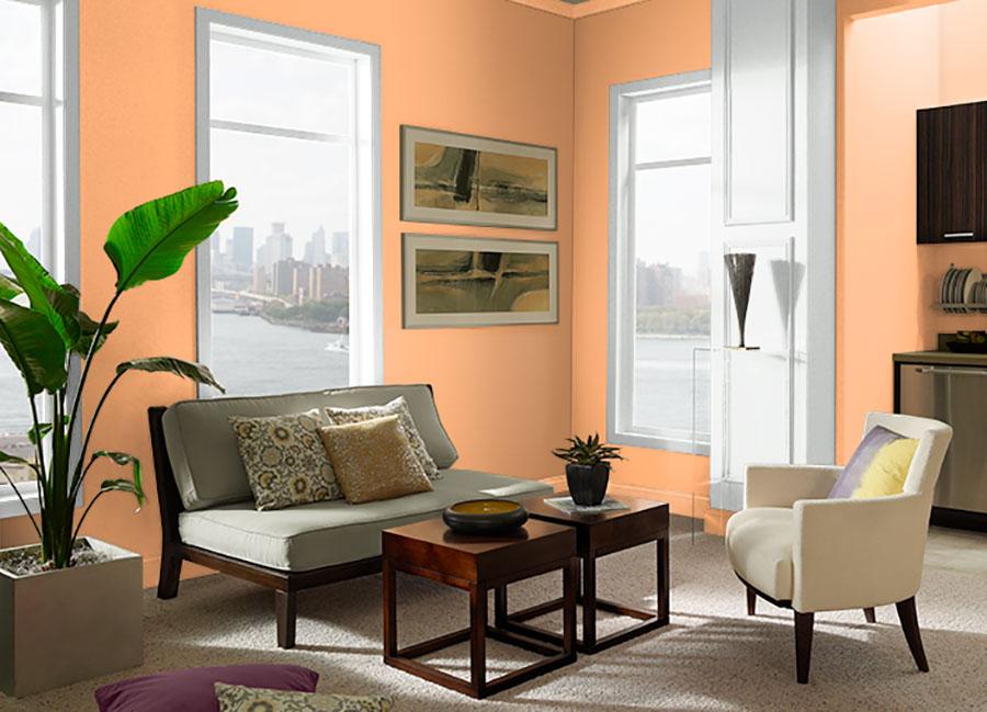 Colore di tendenza 2020 arancio cantalupo n.1