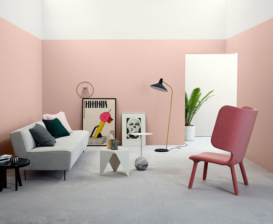Colore di tendenza 2020 cloud pink n.1