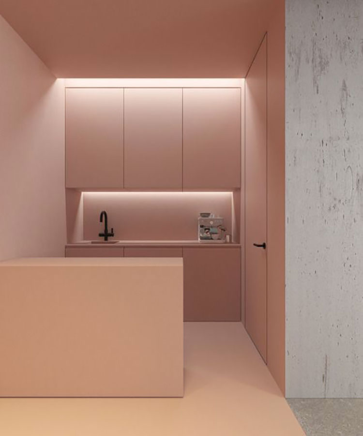 Colore di tendenza 2020 cloud pink n.2