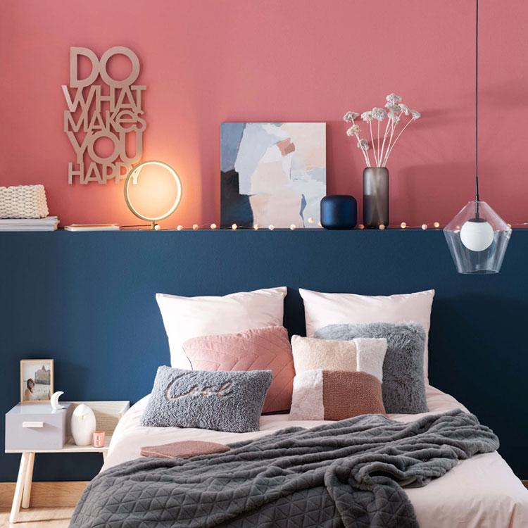 Colore di tendenza 2020 per pareti della camera da letto n.01