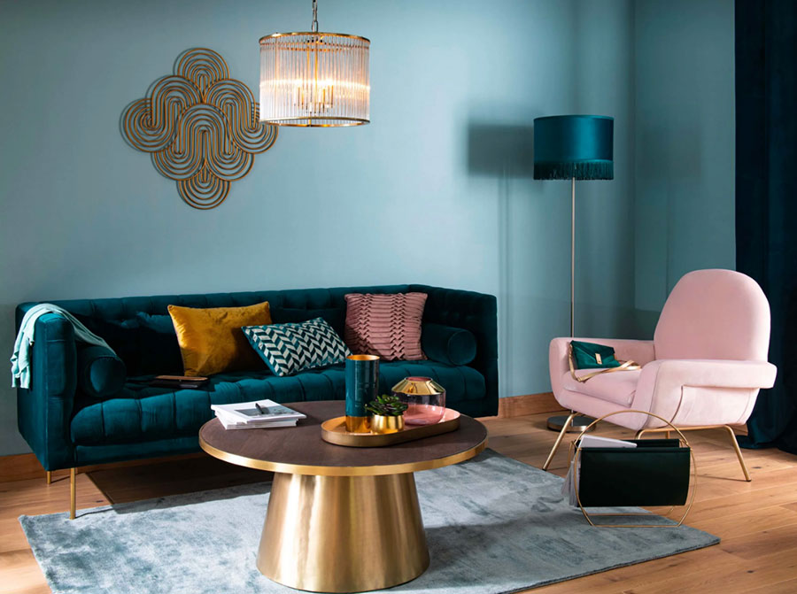 Colore di tendenza 2020 per pareti del soggiorno n.01