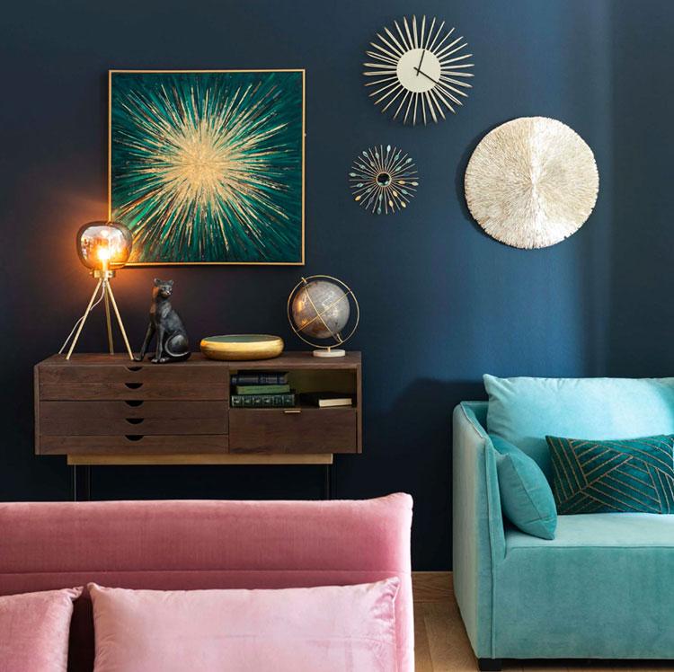 Colore di tendenza 2020 per pareti del soggiorno n.02