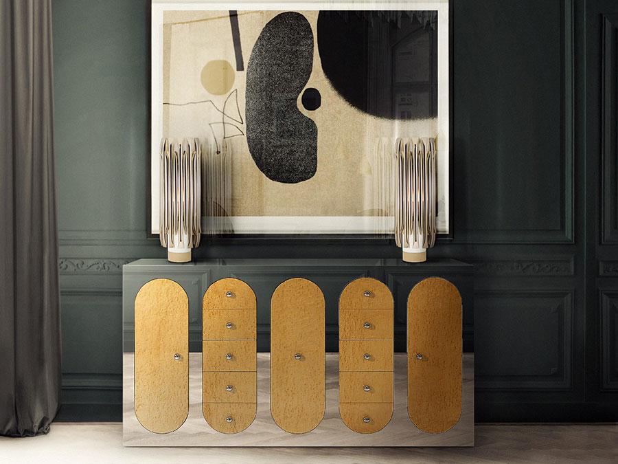 Modello di consolle per ingresso vintage di design n.05