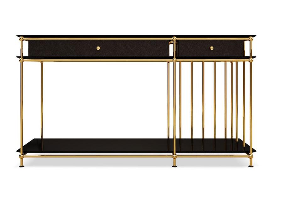 Modello di consolle per ingresso vintage di design n.07
