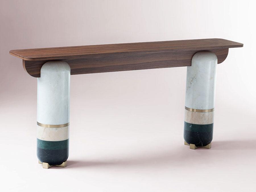 Modello di consolle per ingresso vintage di design n.08