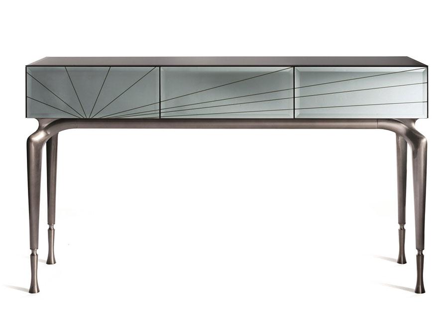 Modello di consolle per ingresso vintage di design n.18