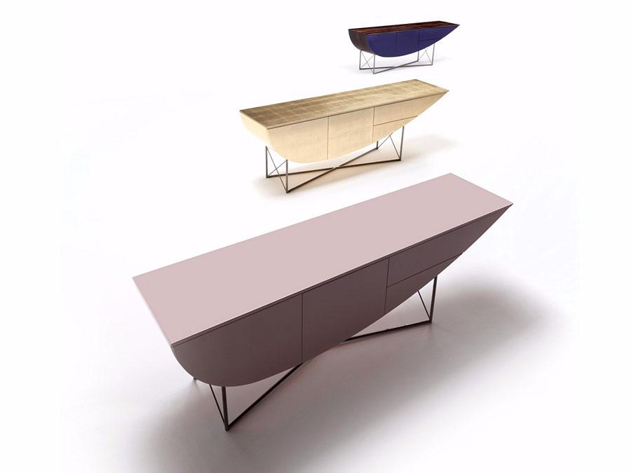 Modello di consolle per ingresso vintage di design n.23