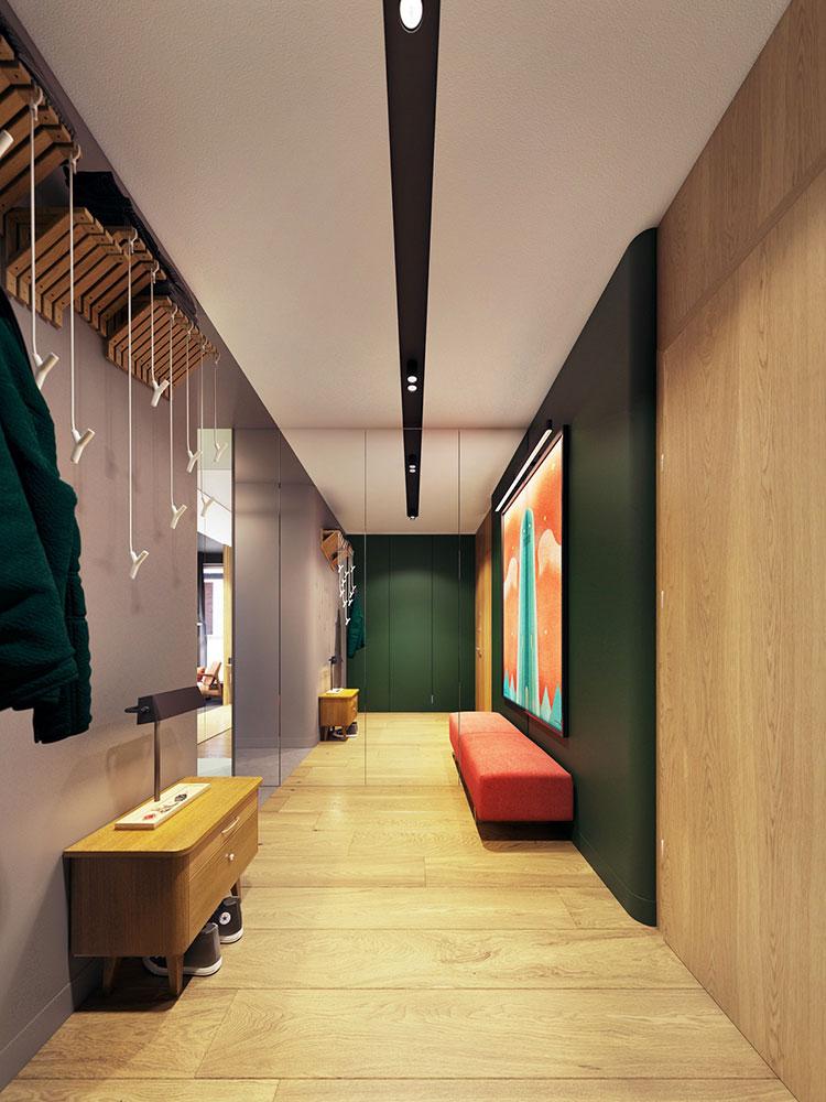 Idee per abbinare i colori in un corridoio 1