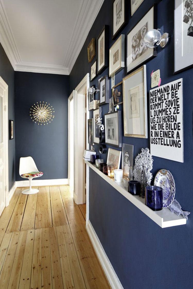 Idee per dipingere un corridoio blu 1