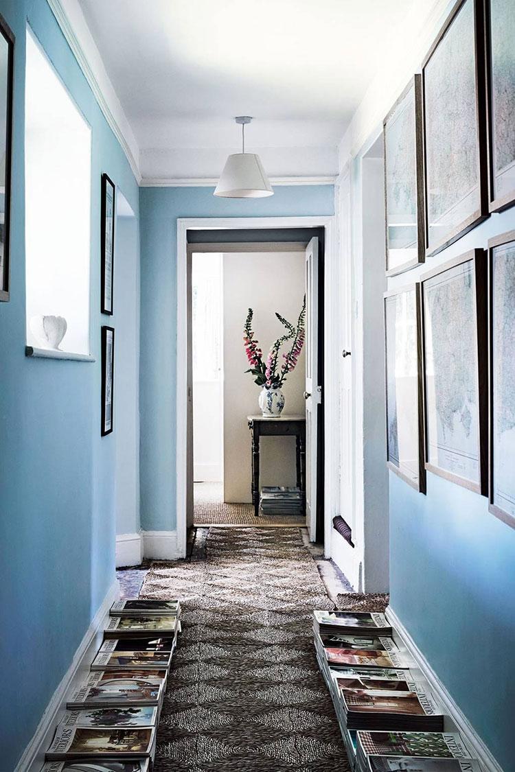 Idee per dipingere un corridoio blu 2