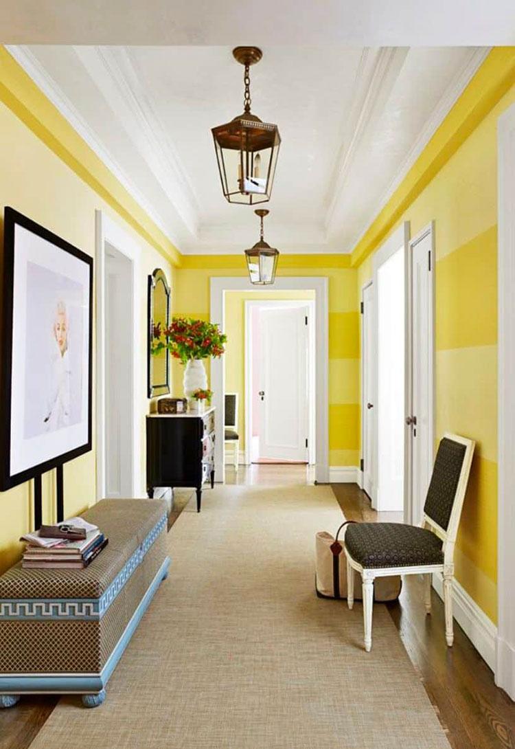 Idee per dipingere un corridoio giallo 1
