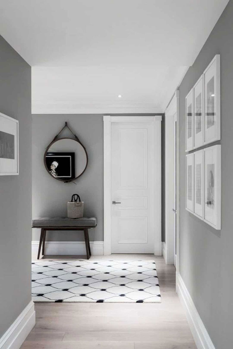 Idee per dipingere un corridoio grigio 2