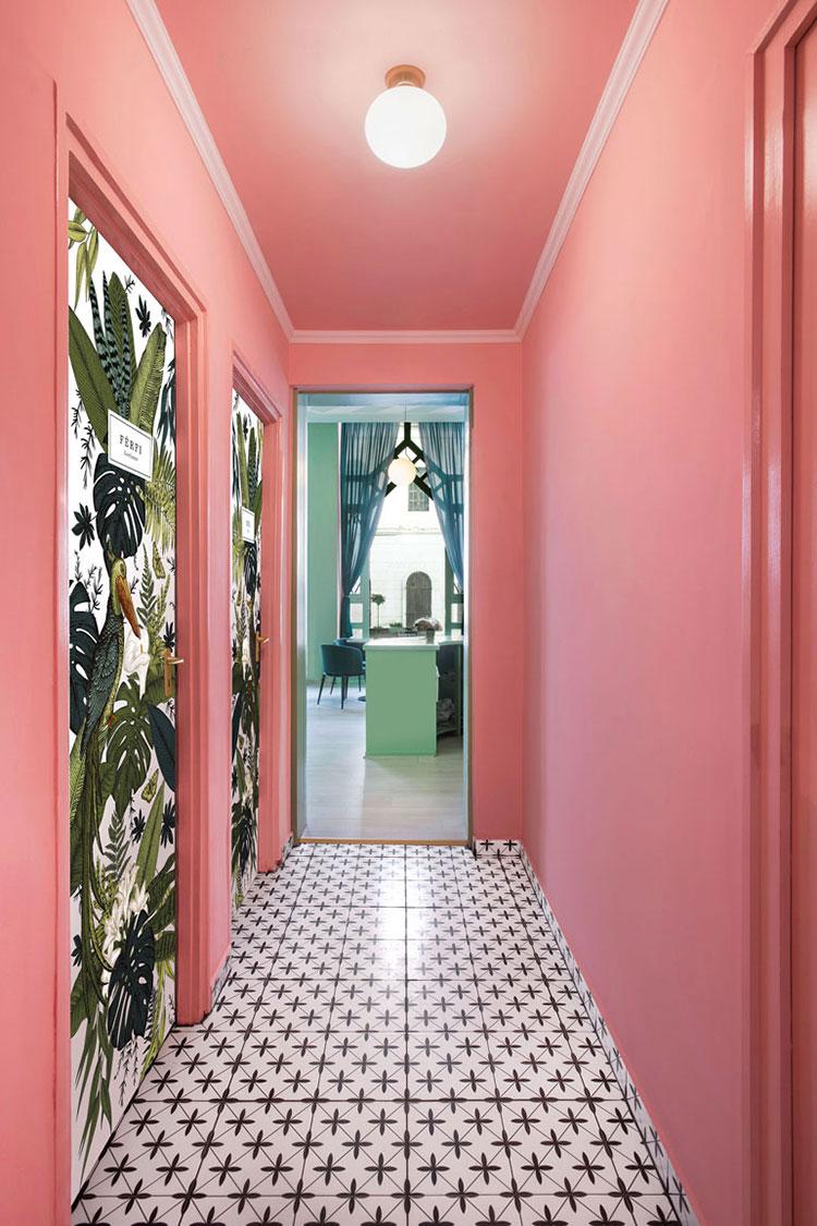Idee per dipingere un corridoio rosa 1