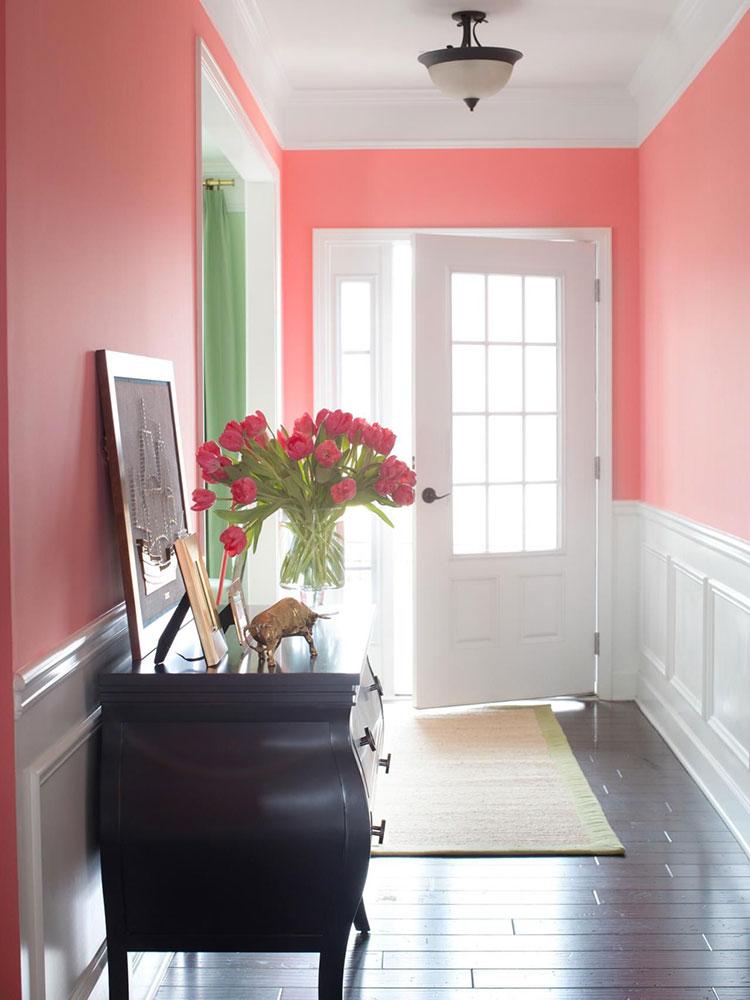 Idee per dipingere un corridoio rosa 2