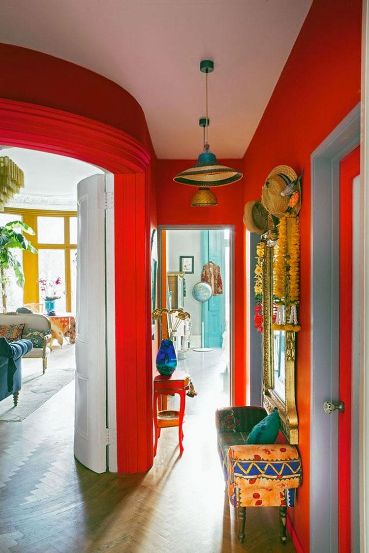 Idee per dipingere un corridoio rosso 2