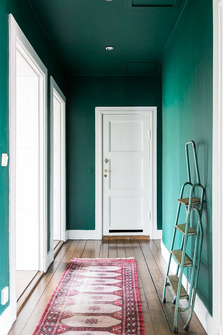 Idee per dipingere un corridoio verde 1