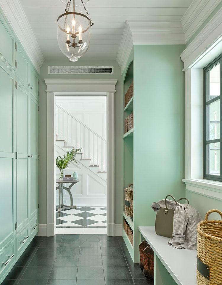 Idee per dipingere un corridoio verde 4
