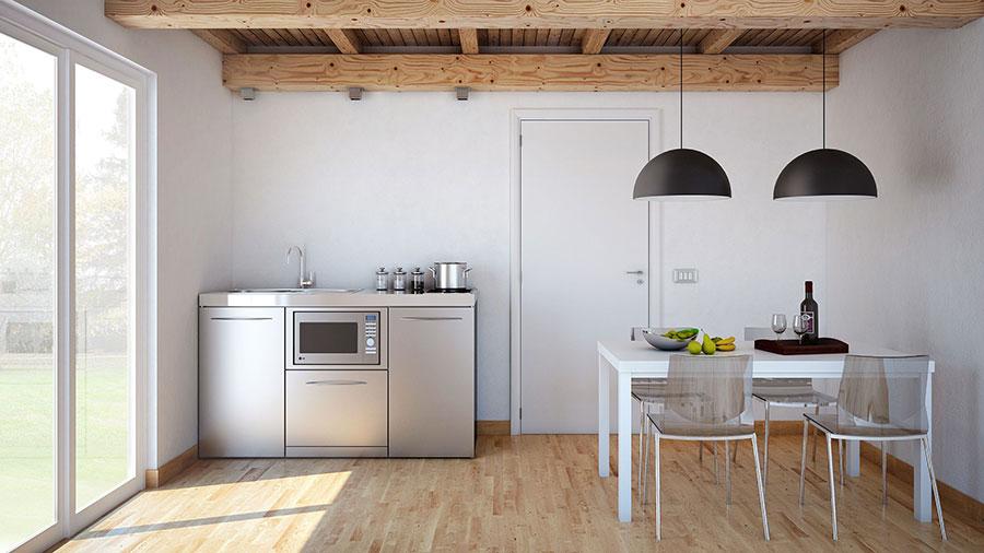 Modello di cucina salvaspazio compatta Limatec di F.M. Progetto Cucine