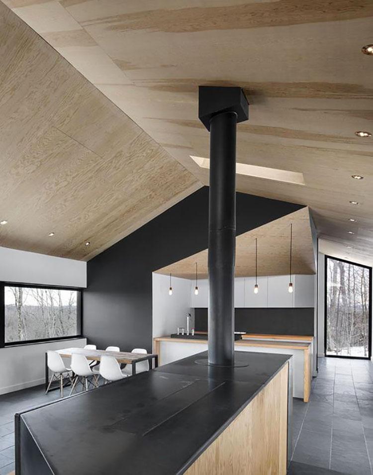 Idee per arredare una mansarda in legno moderna n.02