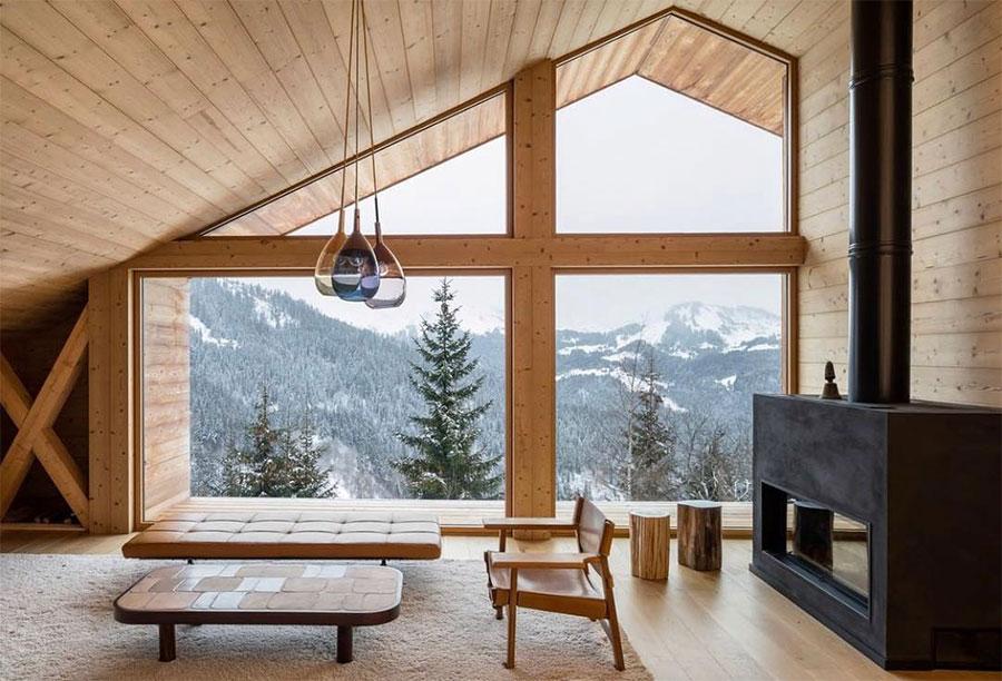 Idee per arredare una mansarda in legno moderna n.07