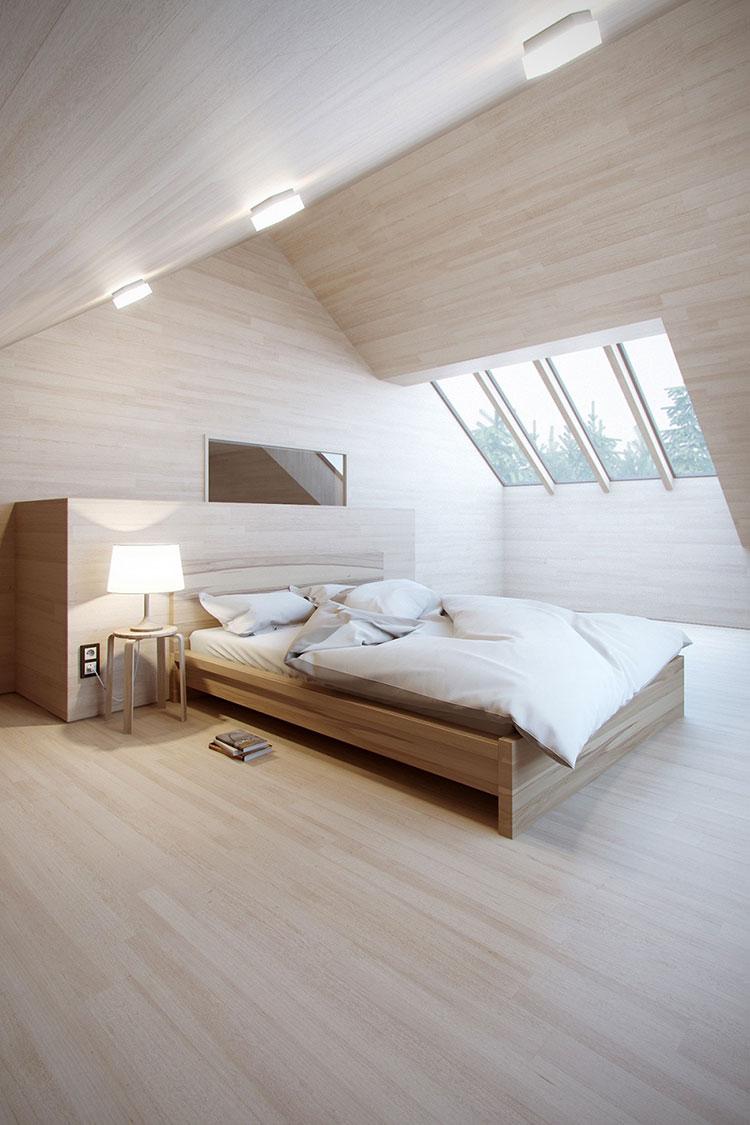 Idee per arredare una mansarda in legno moderna n.14