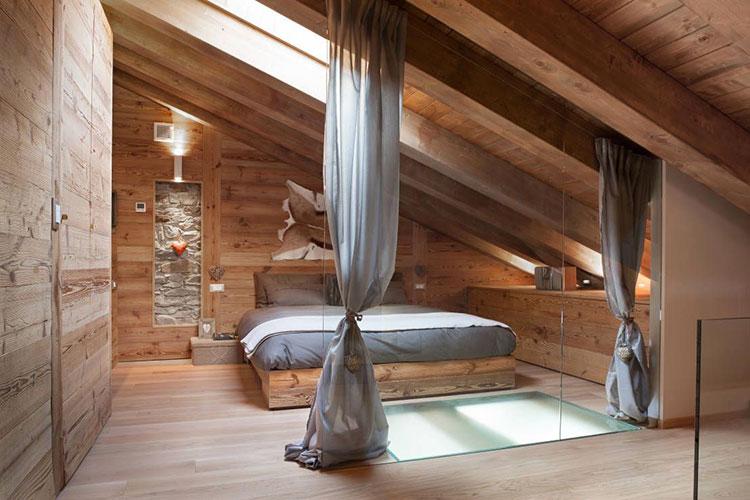 Idee per arredare una mansarda in legno moderna n.15