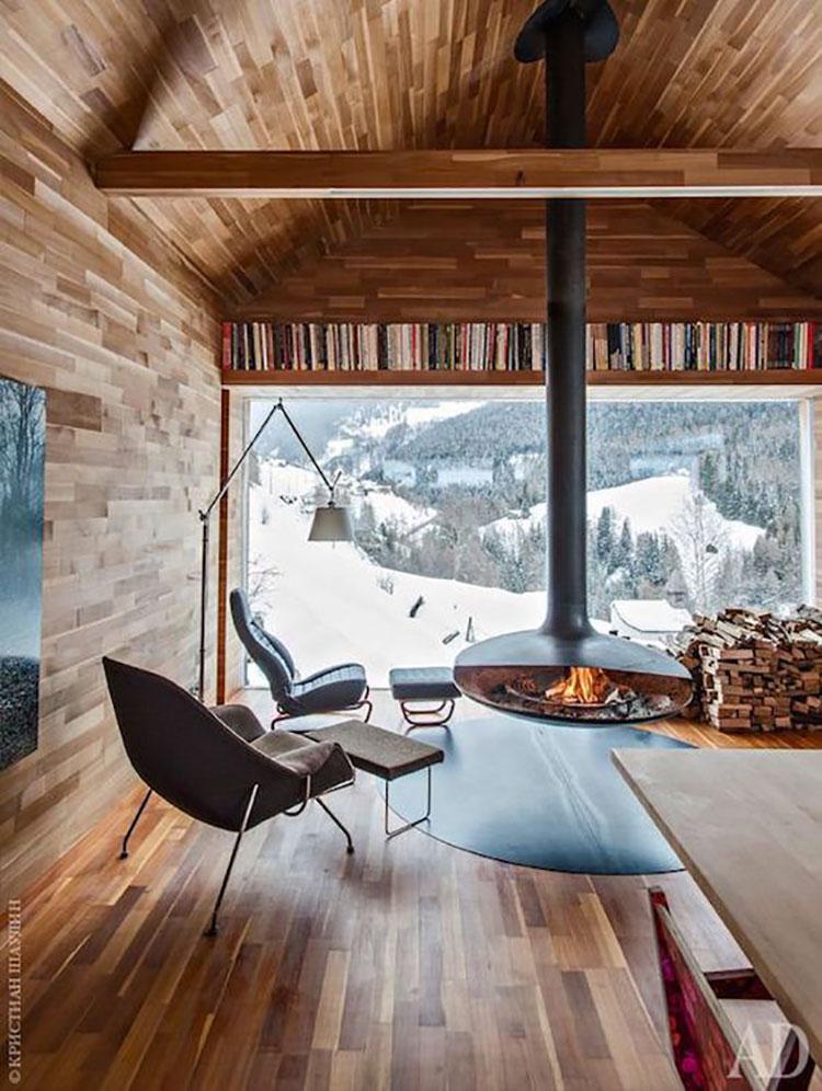 Idee per arredare una mansarda in legno moderna n.18