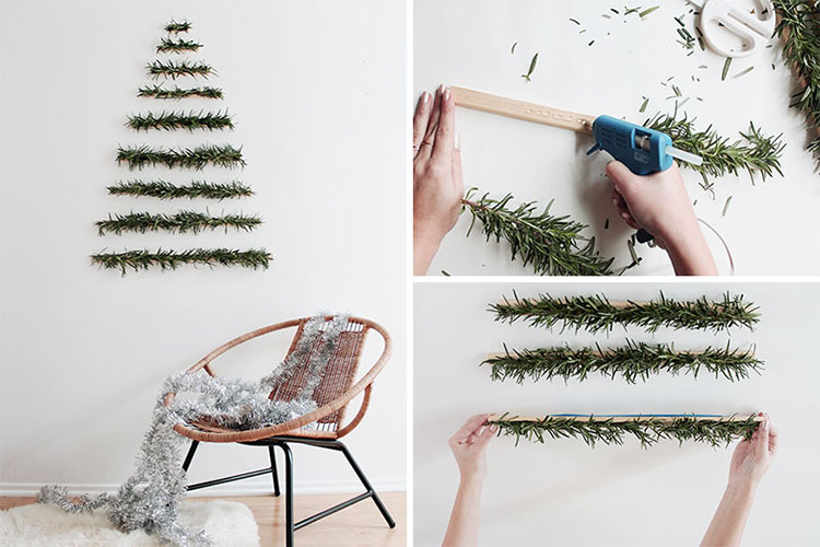 Modello di albero di Natale moderno fai da te n.01