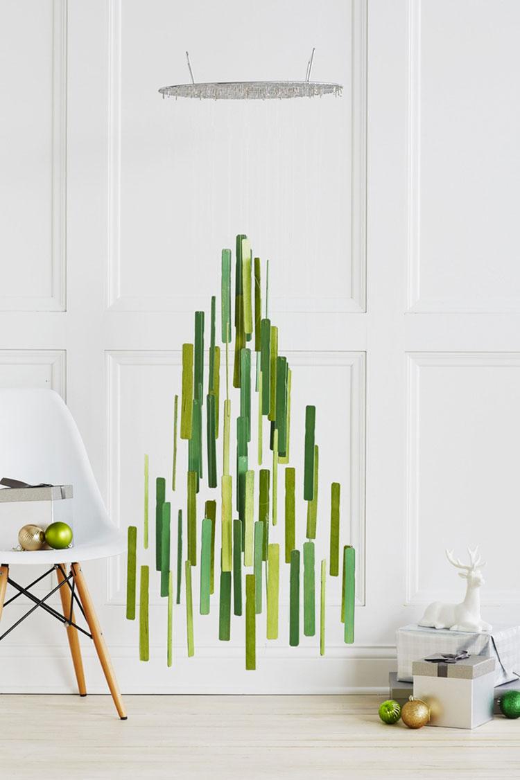 Modello di albero di Natale moderno fai da te n.03