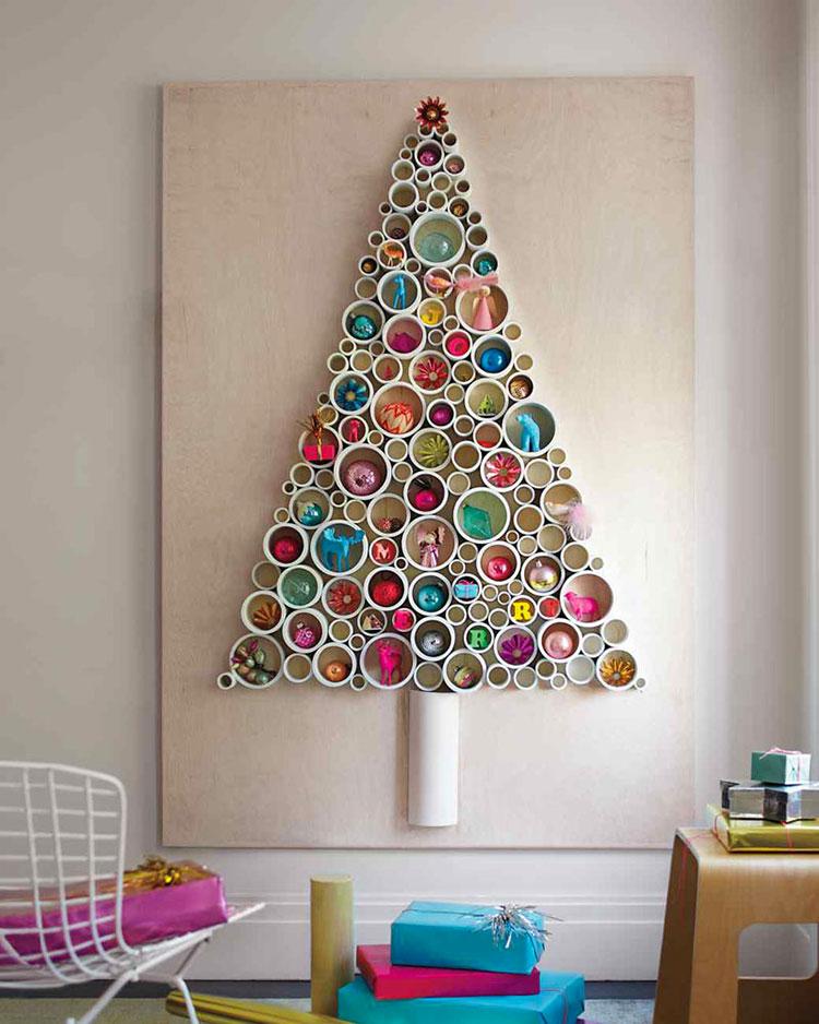 Modello di albero di Natale moderno fai da te n.04
